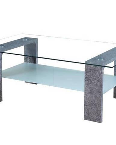 BELTON konferenční stolek, sklo/beton