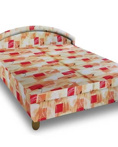 Čalouněná postel MAGDA 160x195 cm, oranžová látka