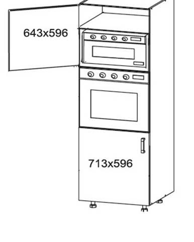 IRIS vysoká skříň DPS60/207 levá, korpus šedá grenola, dvířka bílá supermat
