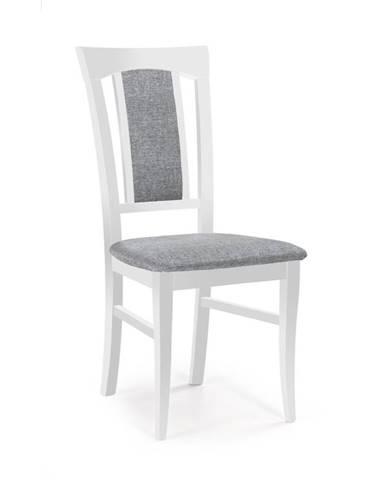 Jídelní židle KONRAD, světle šedá/bílá