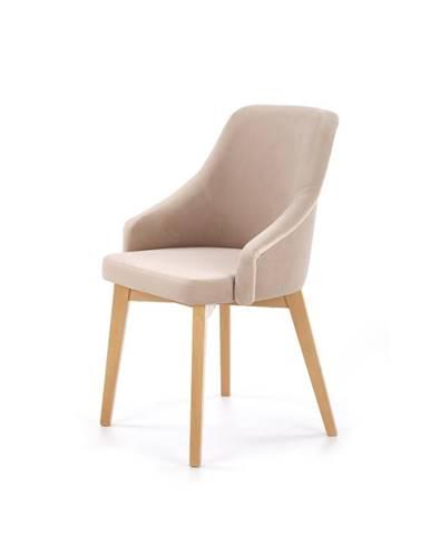 Jídelní židle TOLEDO 2, béžová/dub medový