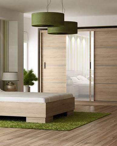 Ložnice VISTA, sonoma (postel 160, skříň, komoda, 2 noční stolky)
