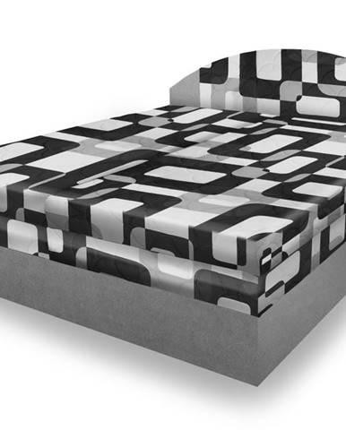 Polohovací čalouněná postel VESNA 180x200 cm, šedá látka