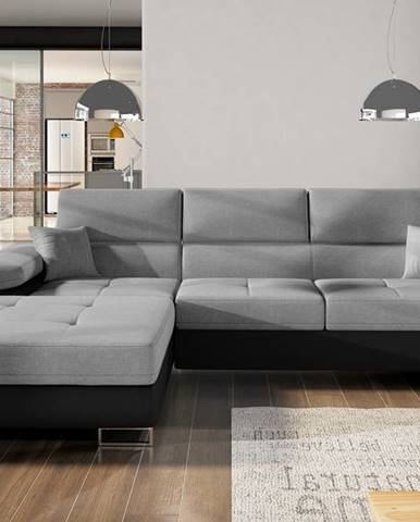 Rohová sedačka ARMANDO Armd_73, levá, tmavě šedá/černá