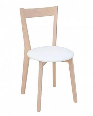 Židle IKKA dub sonoma/bílá (TX069/TK1089 ekokůže)