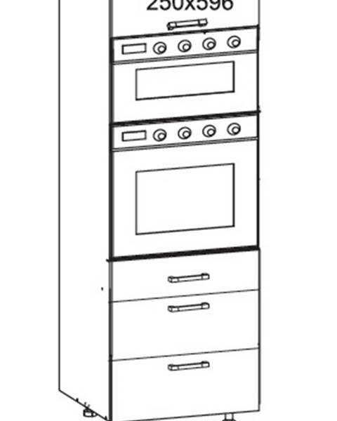 Smartshop IRIS vysoká skříň DPS60/207 SAMBOX O, korpus wenge, dvířka ferro