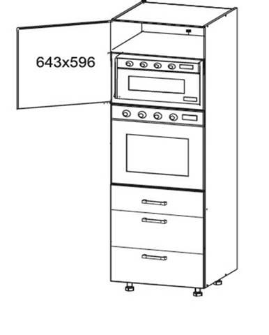 IRIS vysoká skříň DPS60/207 SAMBOX levá, korpus šedá grenola, dvířka bílá supermat