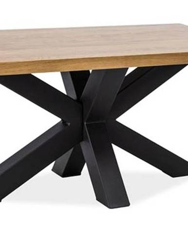 Konferenční stolek CROSS B, dýha dub/černá