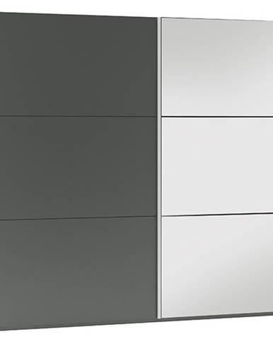 Šatní skříň VIGO 250, grafit/grafit