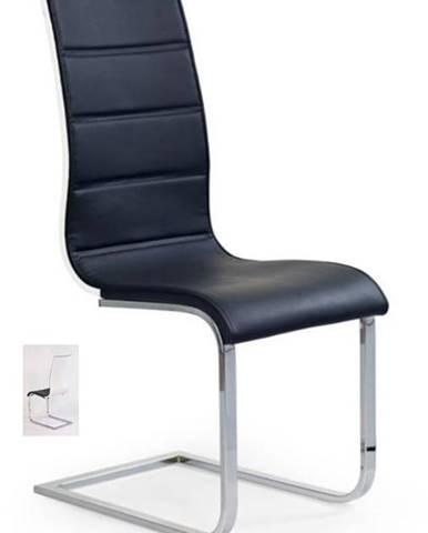 Židle K-104, černá/bílá
