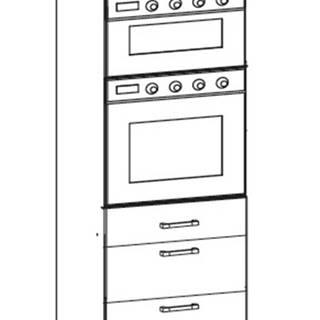 IRIS vysoká skříň DPS60/207 SAMBOX O, korpus wenge, dvířka ferro
