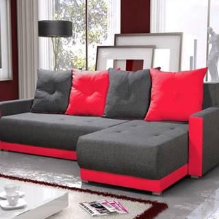 Rohová sedačka INSIGNIA BIS 17, šedá/červená