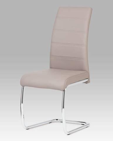 Jídelní židle, chrom / koženka lanýžová DCL-407 LAN