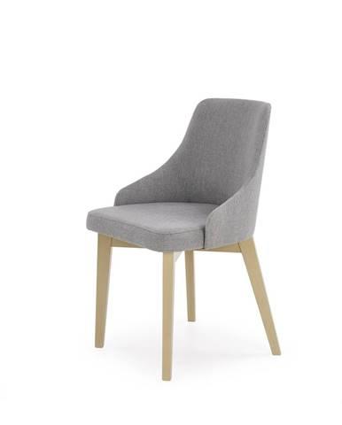 Jídelní židle TOLEDO, dub sonoma/ světle šedá