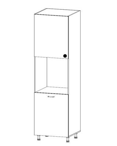 PROWANSJA vysoká skříňka pro vestavbu D60P levá, borovice andersen