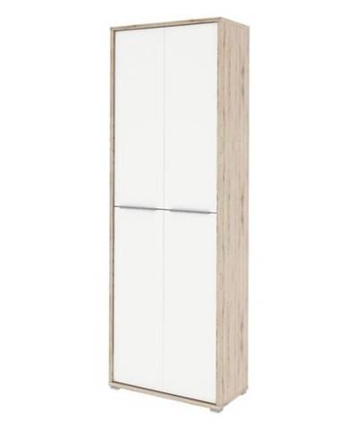RIOMA vysoká skříň TYP 05, dub san remo/bílá