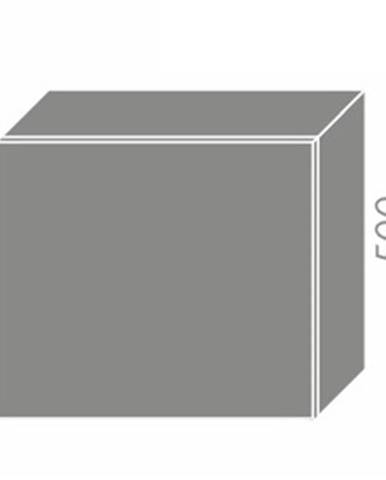 TITANIUM, skříňka horní na digestoř W8 60, korpus: lava, barva: fino bílé