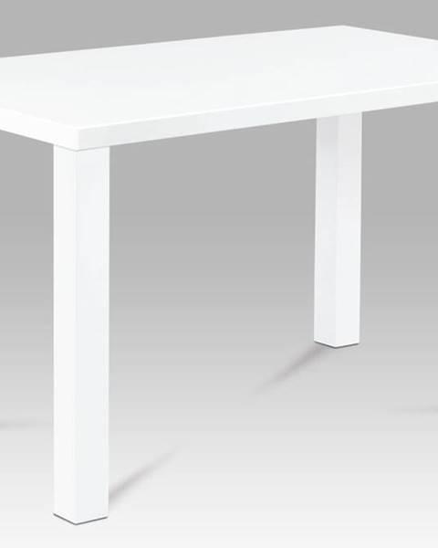 Smartshop Jídelní stůl AT-3006 WT 120x80 cm, vysoký lesk bílý