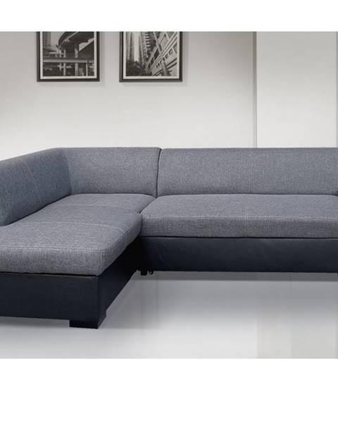 Smartshop Rohová sedačka MINOS 3 levá, šedá látka/černá ekokůže
