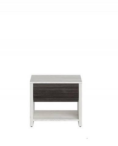 Noční stolek SALINS KOM1S, modřín sibiu/borovice Larico