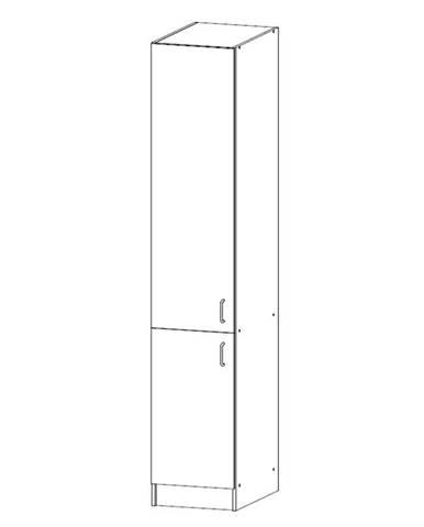 SYCYLIA, vysoká skříňka D40SP levá, ořech milano