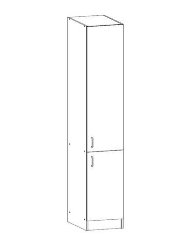 SYCYLIA, vysoká skříňka D40SP pravá, ořech milano