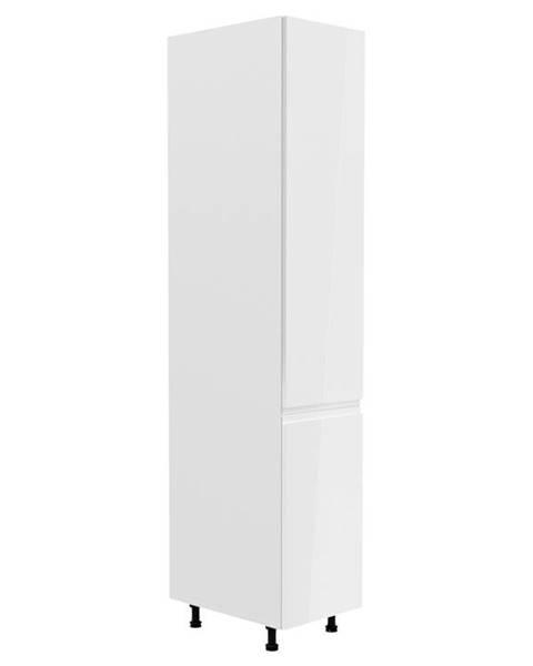 Smartshop ASPEN, vysoká skříňka D40SP levá, bílá/bílý lesk