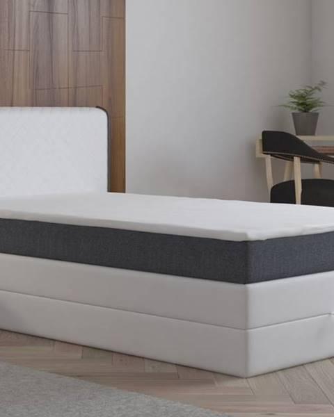 Smartshop Postel s matrací a ÚP STANFORD 140x200cm (PUR - M120/I96), bílá