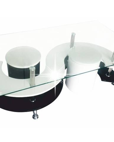 RUPERT konferenční stolek, bílá/černá