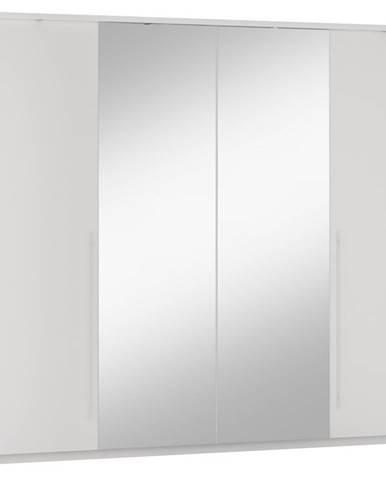 Šatní skříň BREMA 255, bílá/bílá