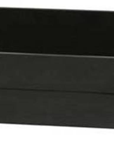 Černá dřevěná zásuvka pod postel WOOOD Dennis