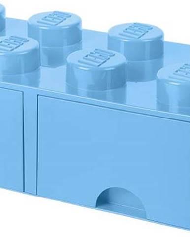 Světle modrý úložný box se dvěma šuplíky LEGO®
