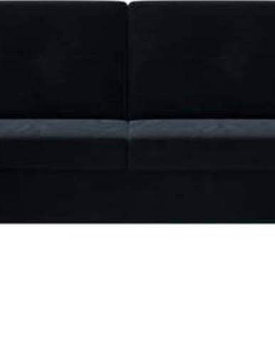 Tmavě modrá sametová rozkládací pohovka do U Ghado Moor, pravý roh