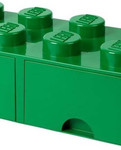 Zelený úložný box se 2 šuplíky LEGO®