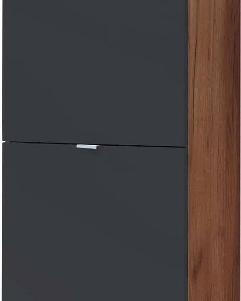 Germania Botník v přírodní barvě s černými zásuvkami Germania Colorado, výška 91cm