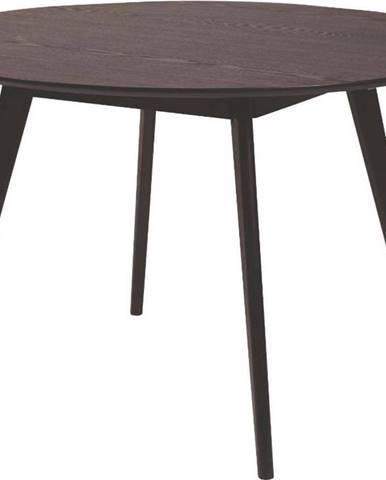 Černý jídelní stůl Rowico YuRAi , ∅115cm