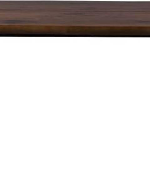 Dutchbone Jídelní stůl s černými ocelovými nohami Dutchbone Alagon Land, 200 x 90 cm