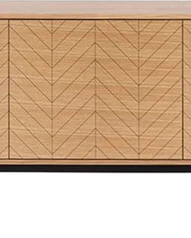 Komoda v dubovém dekoru Woodman Camden Herringbone, 175x75cm