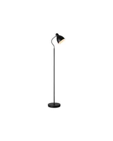 Černá stojací lampa Markslöjd Nitta, výška 1,45 m
