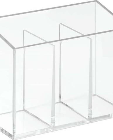 Organizér se 3 přihrádkami iDesign Clarity, 13x6,5cm
