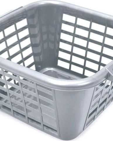 Šedý koš na prádlo Addis Square Laundry Basket, 24 l