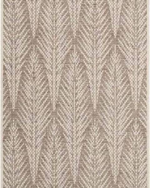 Bougari Hnědobéžový venkovní koberec Bougari Pella, 70 x 200 cm