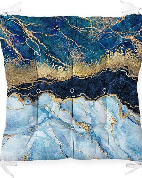 Minimalist Cushion Covers Podsedák na židli Minimalist Cushion Covers Blue Marble, 40 x 40 cm
