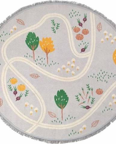 Dětský ručně vyrobený koberec Nattiot Little Garden, ⌀ 120cm