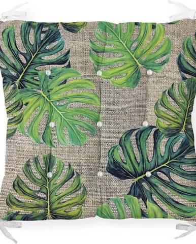 Podsedák na židli Minimalist Cushion Covers Green Banana Leaves, 40 x 40 cm