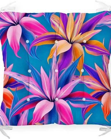 Podsedák s příměsí bavlny Minimalist Cushion Covers Bright Flowers,40x40cm