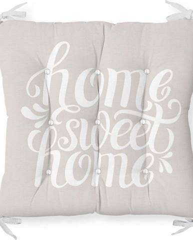 Podsedák s příměsí bavlny Minimalist Cushion Covers Home Sweet Home,40x40cm