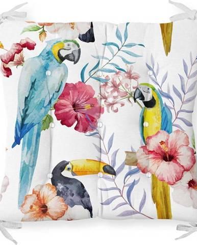 Podsedák s příměsí bavlny Minimalist Cushion Covers Jungle Birds,40x40cm