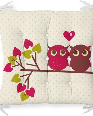 Podsedák s příměsí bavlny Minimalist Cushion Covers Lovely Owls,40x40cm