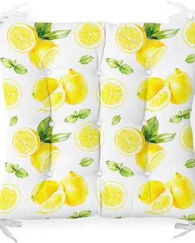 Podsedák s příměsí bavlny Minimalist Cushion Covers Sliced Lemon,40x40cm